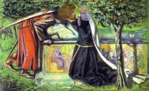 Arthur's Tomb—The Last Meeting of Lancelot and Guinevere, Dante Gabriel Rossetti